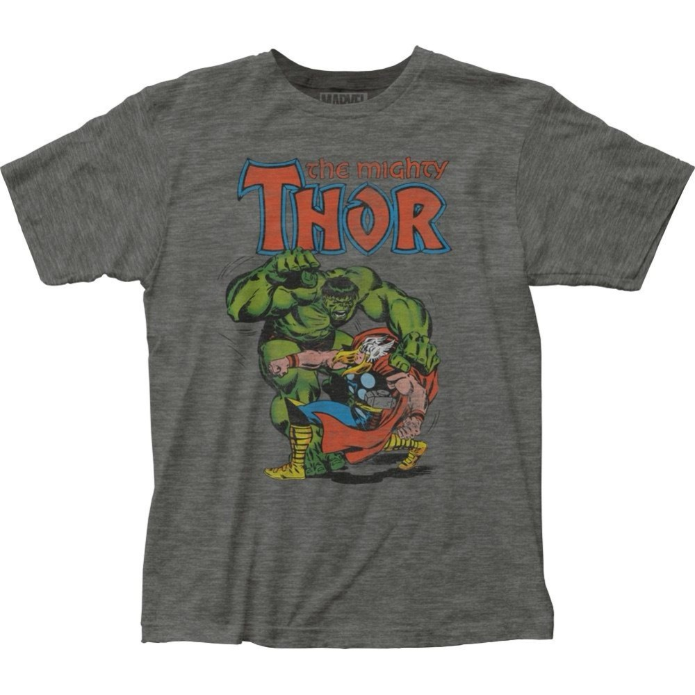 Otantik Marvel Comic Mighty Thor Vs Incredible Hulk T-shirt Sml X 2X üst
